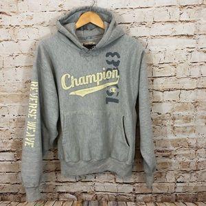 Champion Reverse Weave hoodie sweatshirt spellout